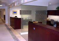 This is a view of executive office administration work area